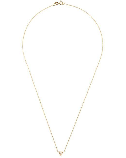 LIZZIE MANDLER FINE JEWELRY | Женское Серебристый Triangle Solitaire Necklace