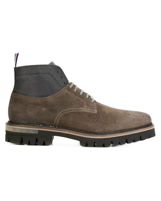 Brimarts | Мужские Коричневые Ботинки На Шнуровке