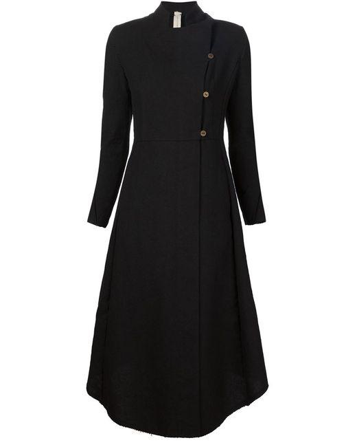 A DICIANNOVEVENTITRE   Женское Чёрное Длинное Расклешенное Пальто