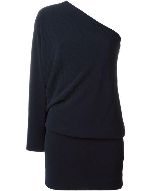 Jay Ahr | Женское Синее Асимметричное Платье