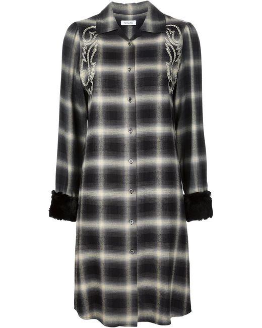 CHRISTIAN DADA | Женское Чёрный Western Embroidered Plaid Dress