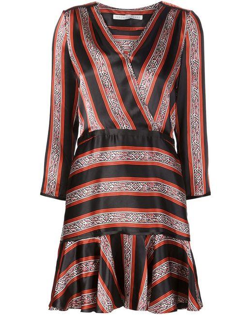Veronica Beard   Женское Красный Flared Wrap Dress