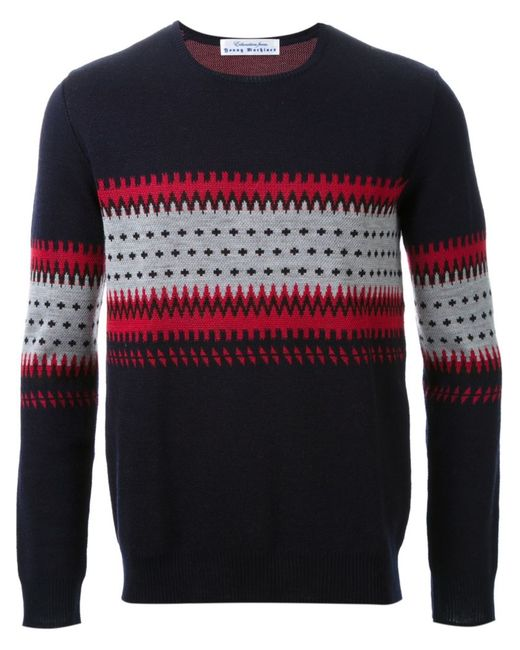 EDUCATION FROM YOUNGMACHINES | Мужское Чёрный Intarsia Knit Sweater