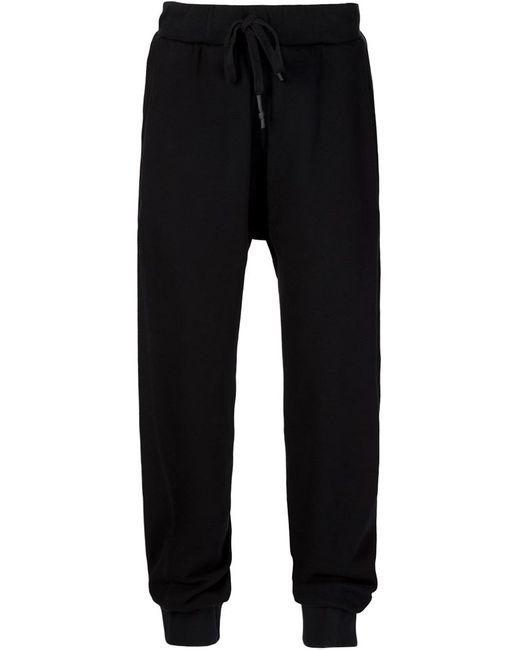 11 BY BORIS BIDJAN SABERI | Мужское Чёрный Embroidered Drop Crotch Track Trousers