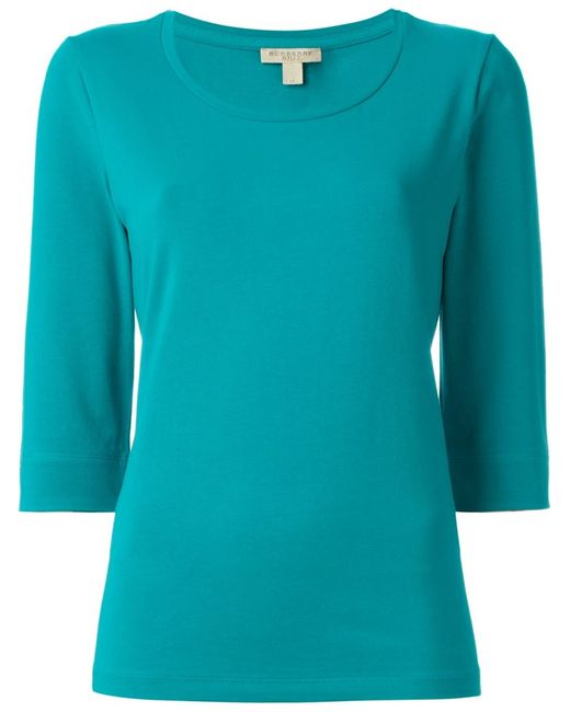 Burberry Brit   Женское Синий Three-Quarter Sleeve T-Shirt
