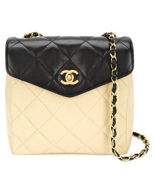 Chanel Vintage   Женская Многоцветная Двухцветная Сумка Через Плечо