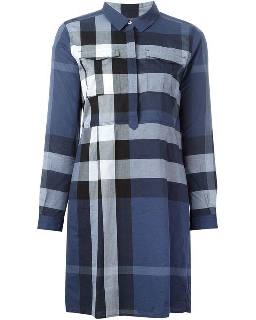 Burberry Brit | Женское Синий Checked Shirt Dress