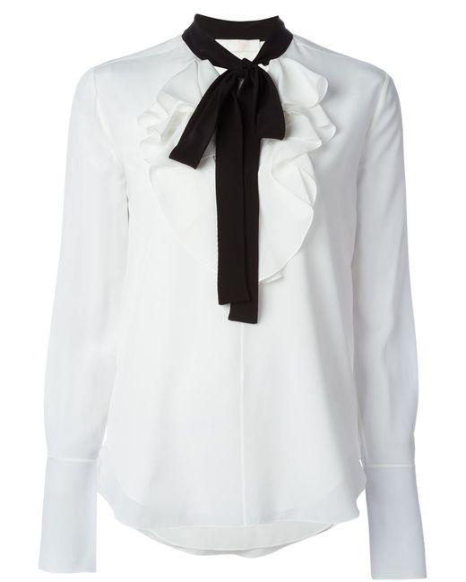 Chloe | Женская Белая Блузка С Завязками На Бант