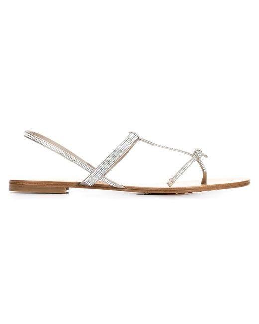 Pedro García | Женское Nude & Neutrals Crystal-Embellished Sandals