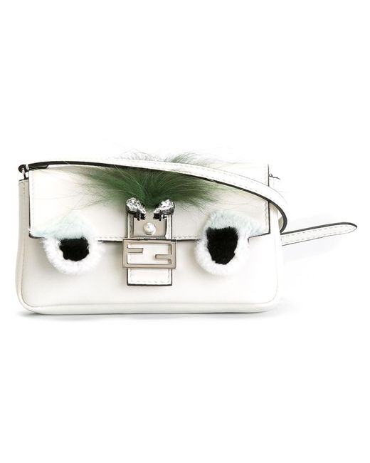 Fendi | Женское Белый Micro Baguette Crossbody Bag