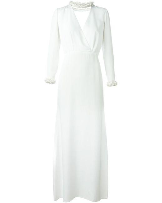 Emilio Pucci | Женское Белый Beaded Detail Bridal Dress