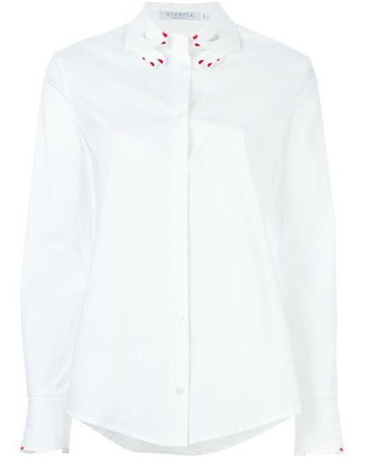 Vivetta   Женская Белая Классическая Рубашка