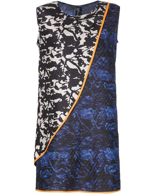 Zero + Maria Cornejo | Женское Чёрное Мини-Платье С Комбинированным Принтом