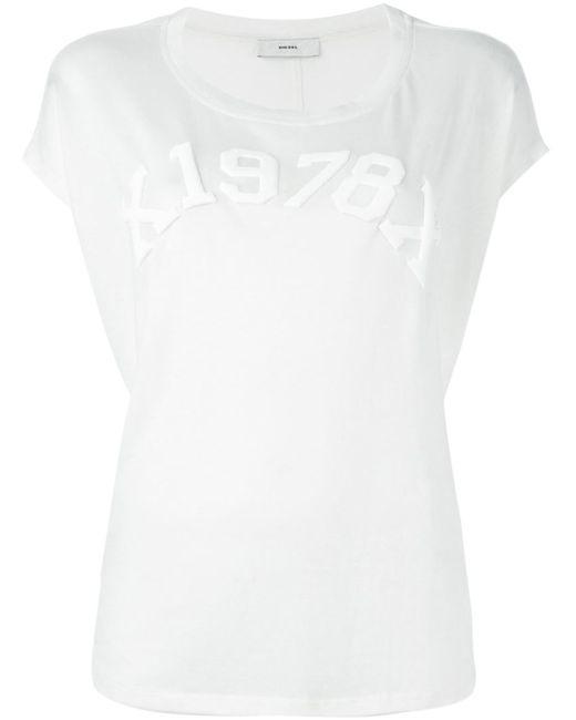 Diesel | Женская Белая Футболка T-Zola-C