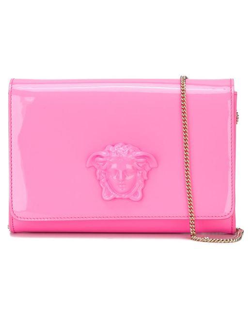 Versace | Женский Розовый Клатч Medusa