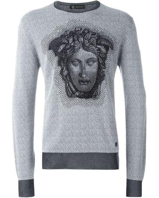 Versace | Мужской Серый Свитер Medusa