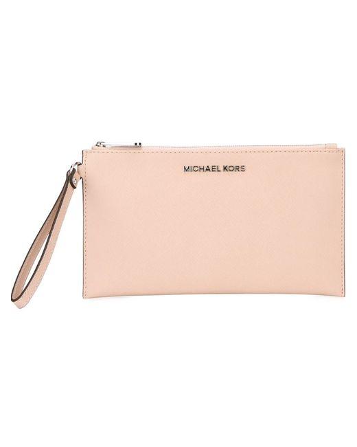 Michael Michael Kors | Женский Розовый Клатч Bedford