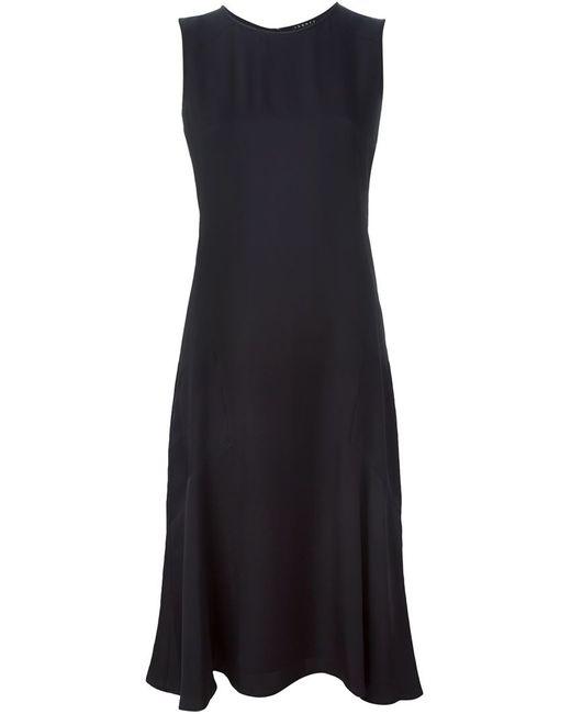 Theory | Женское Чёрное Расклешенное Платье Без Рукавов