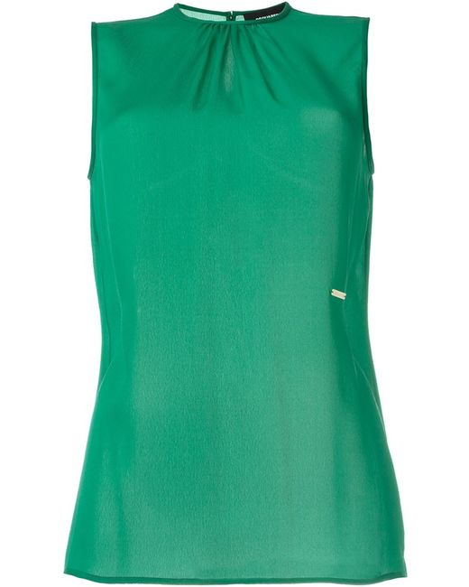 Dsquared2 | Женская Зелёная Блузка Без Рукавов
