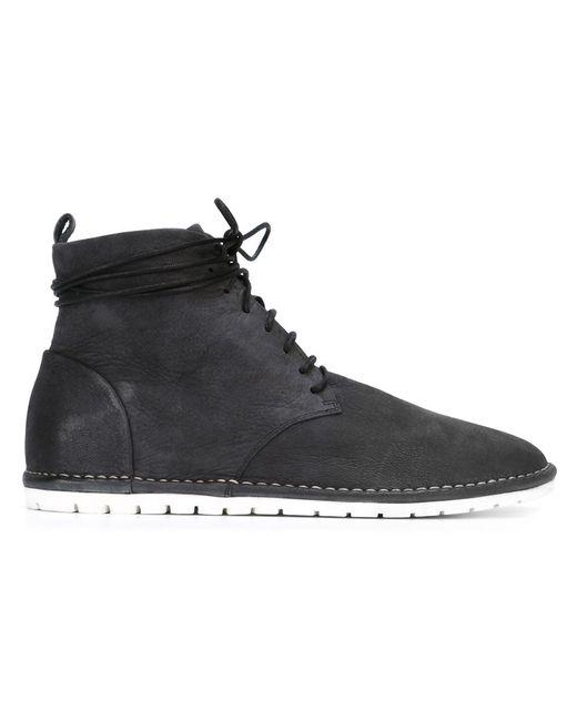 Marsell | Мужские Чёрные Ботинки На Шнуровке
