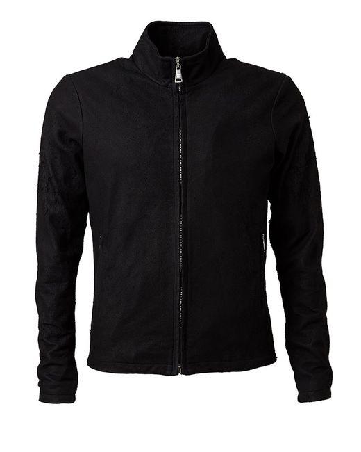 Giorgio Brato | Мужская Чёрная Приталенная Куртка На Молнии