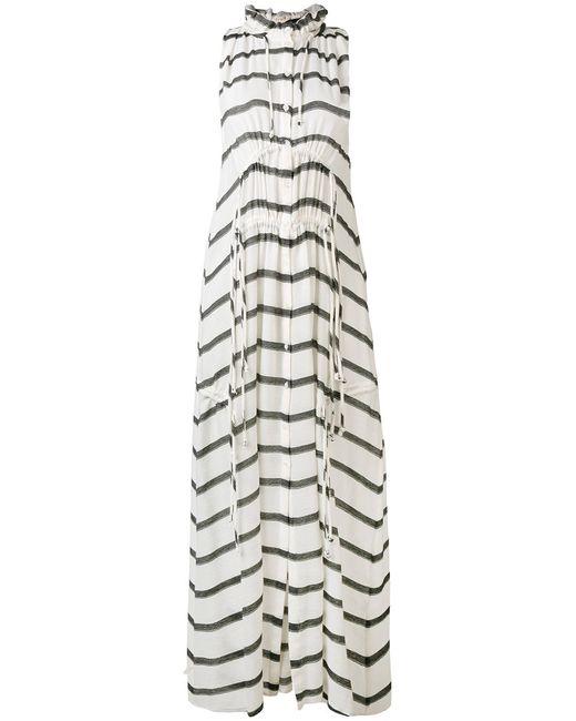 Iro   Женское Белый Striped Drawstring Dress 38
