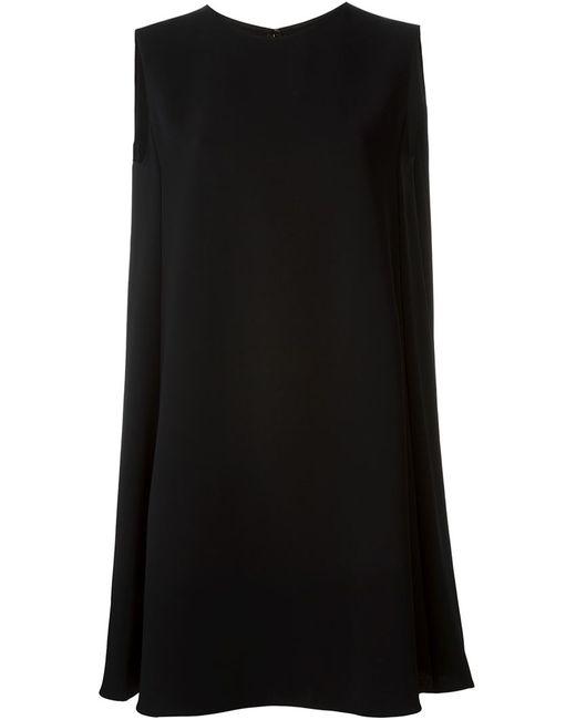 Mcq Alexander Mcqueen | Женское Чёрное Платье-Шифт Без Рукавов