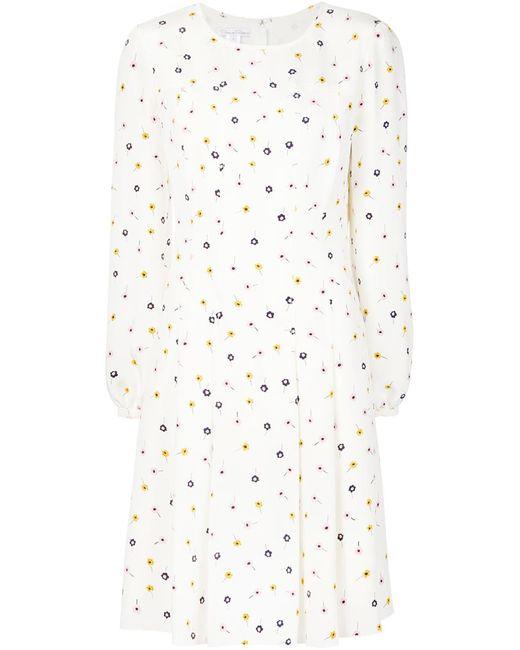 Oscar de la Renta | Женское Белое Платье С Цветочным Принтом