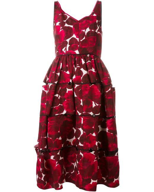 Marc Jacobs   Женское Розовое Платье С Цветочным Принтом