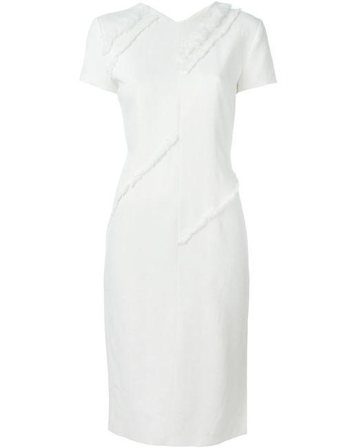 Altuzarra | Женское Белый Frayed Fitted Dress