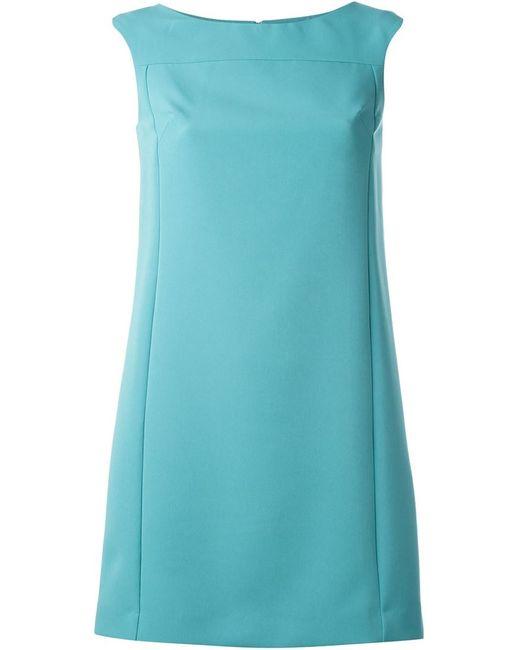 Versace Collection | Женское Синее Платье А-Образного Кроя