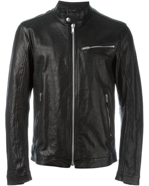Dondup   Мужская Чёрная Кожаная Куртка