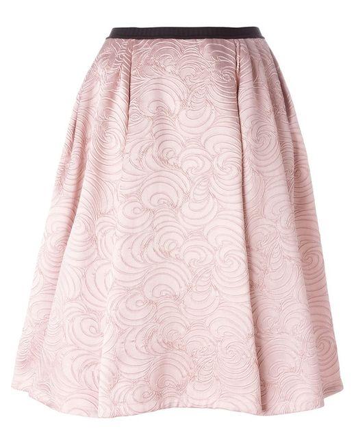 Antonio Marras | Женская Розовая Расклешенная Жаккардовая Юбка