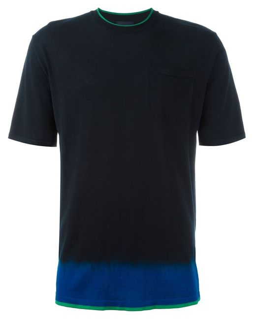 Lanvin   Мужская Синяя Футболка С Эффектом Dip-Dye