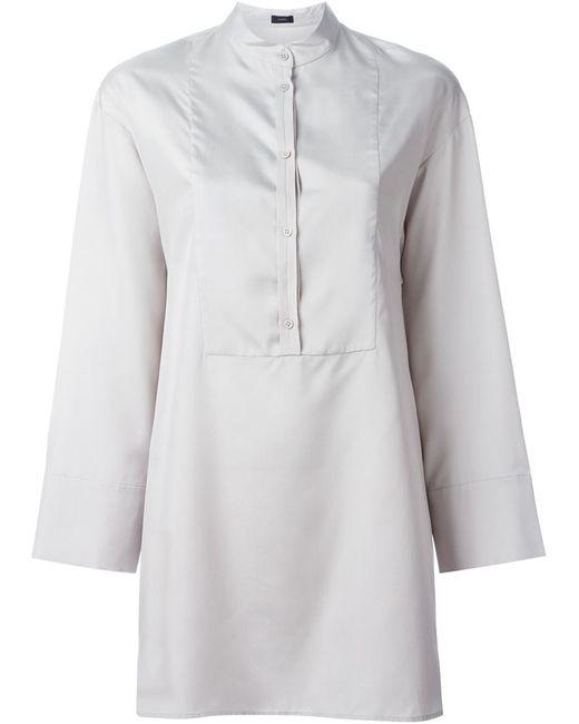 Joseph   Женская Серая Рубашка С Нагрудной Панелью