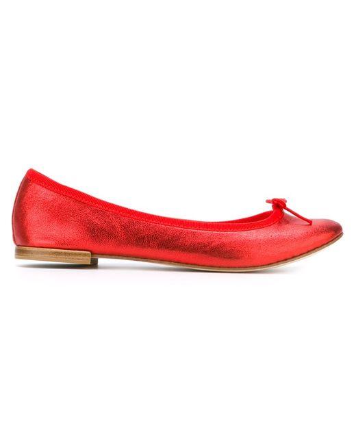 Repetto | Женские Красные Балетки С Закругленным Носком