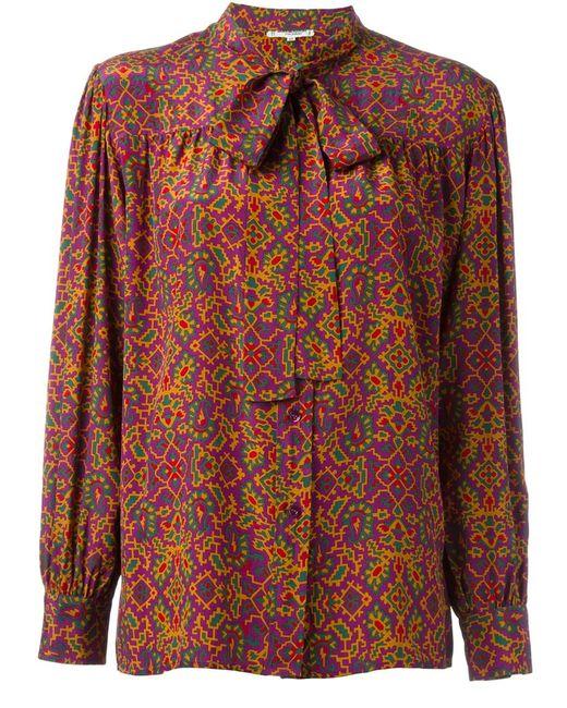 Saint Laurent | Женское Многоцветный Printed Blouse