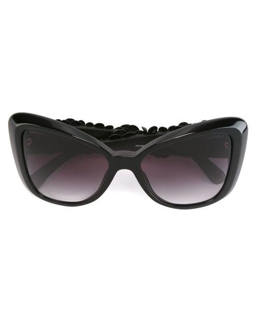 Chanel Vintage | Женские Чёрные Солнцезащитные Очки Camelia Special