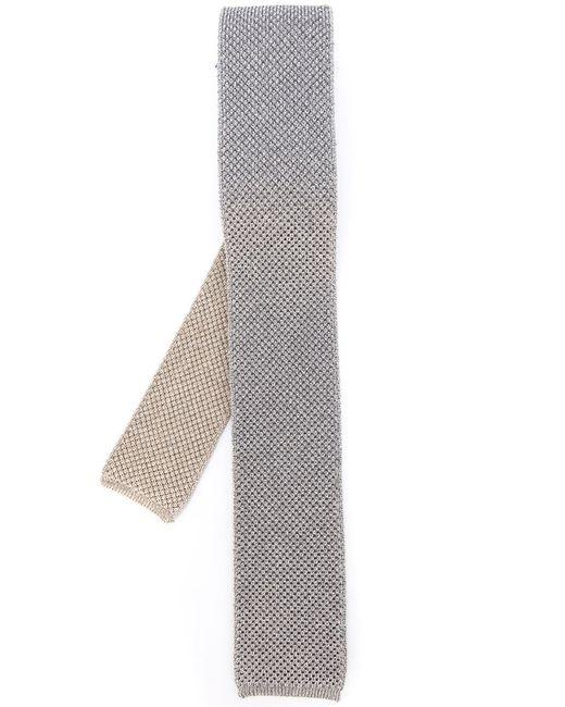 Eleventy | Мужской Серый Трикотажный Галстук