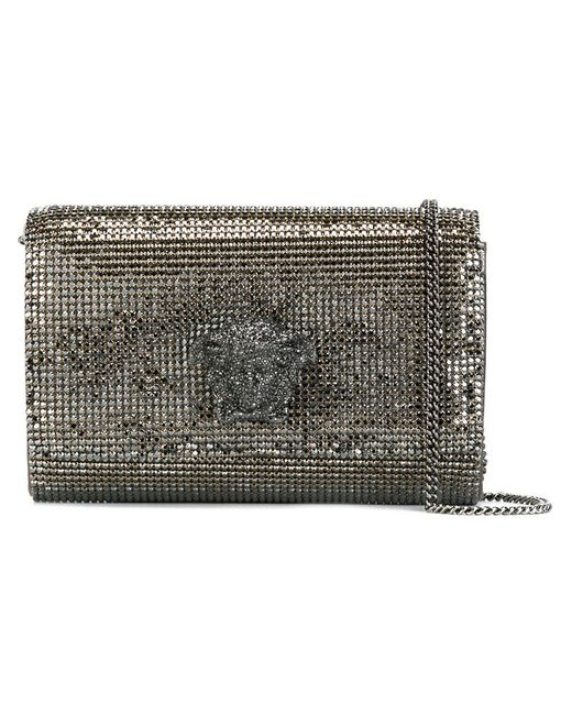 Versace | Женская Серебристая Сумка На Плечо Medusa