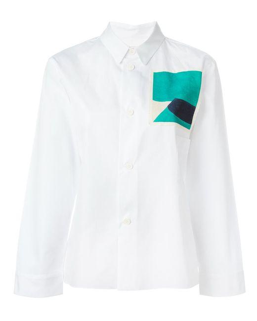 Marni | Женская Белая Рубашка С Нашивкой Jack Davidson