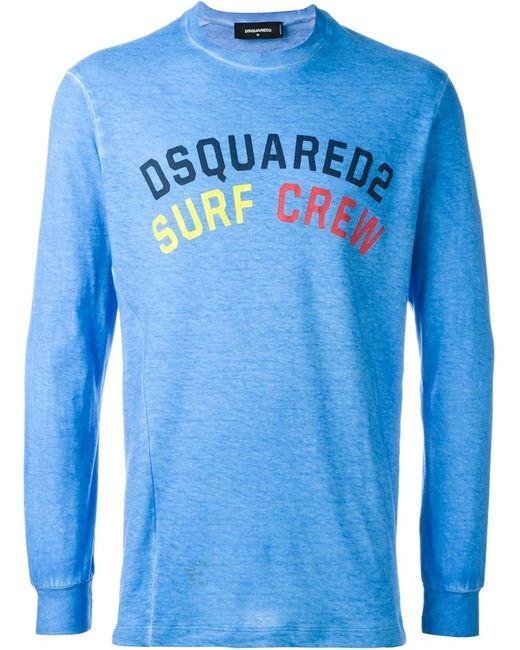 Dsquared2 | Мужская Синяя Толстовка Surf Crew