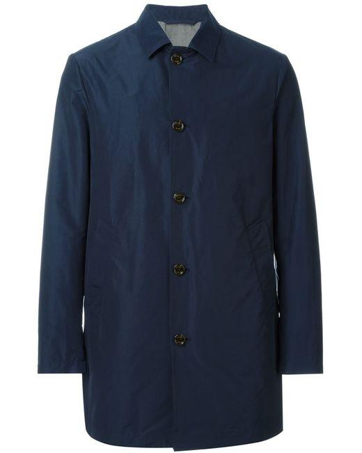 Eleventy | Мужская Синяя Удлиненная Куртка На Пуговицах
