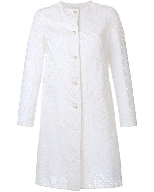 Huishan Zhang   Женское Белое Кружевное Пальто