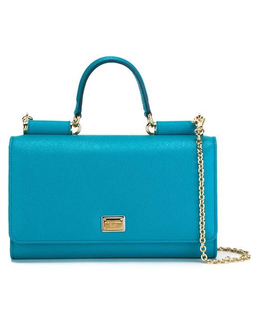 Dolce & Gabbana | Женская Синяя Маленькая Сумка Через Плечо Von