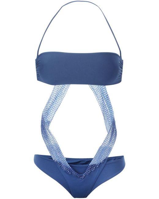 La Perla | Женское Синий Bandeau Bikini