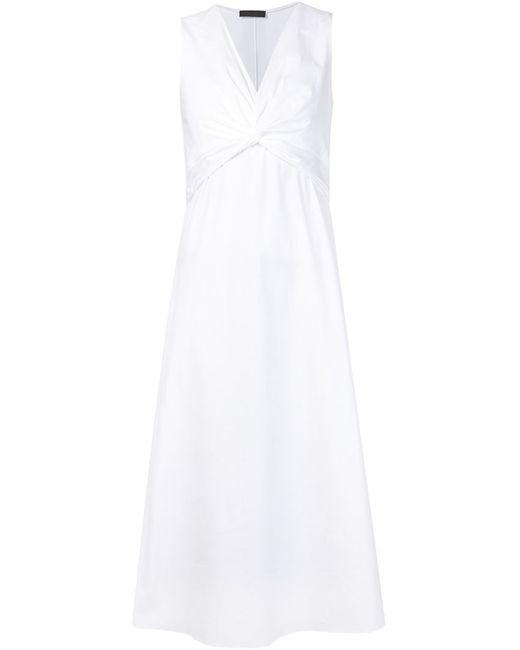 The Row   Женское Белое Платье С Перекрученной Деталью Kristiann