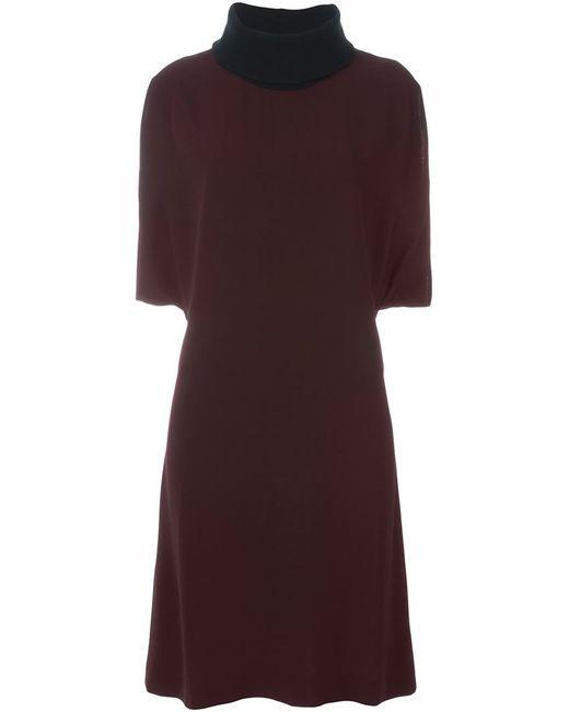 Marni | Женское Красное Платье С Высоким Горлышком