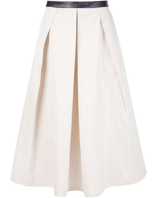Martin Grant | Женское Nude & Neutrals Box Pleated Skirt