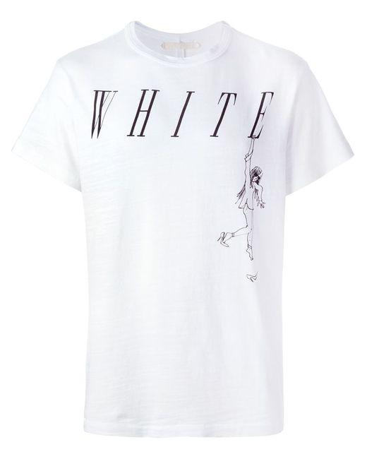 OFF-WHITE | Мужское Белый Logo Print T-Shirt